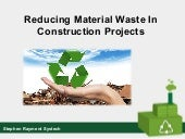 Stephen Rayment Systech | Reducing Material Waste In Construction Projects