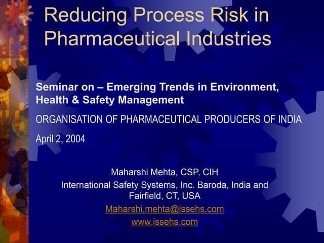 Reducing PSM risk in Pharma- OPPI
