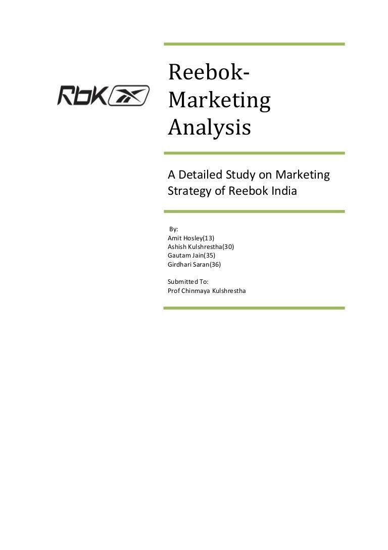 f33b5b4d4 Reebok marketing analysis
