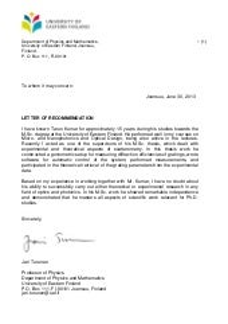 recommendation letter for internship