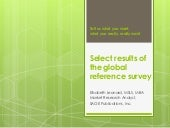 Reference research webinar for SLA, 2014