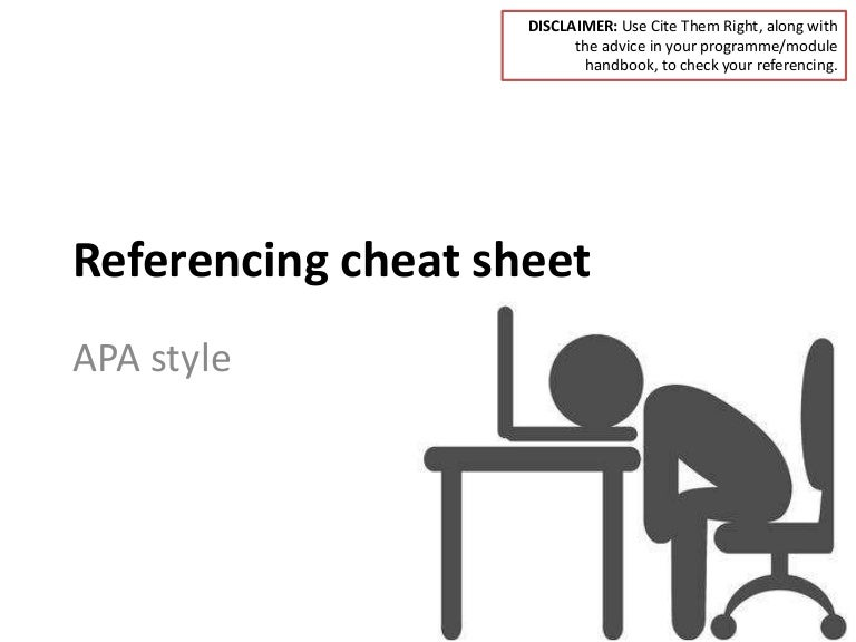 Referencing cheat sheet