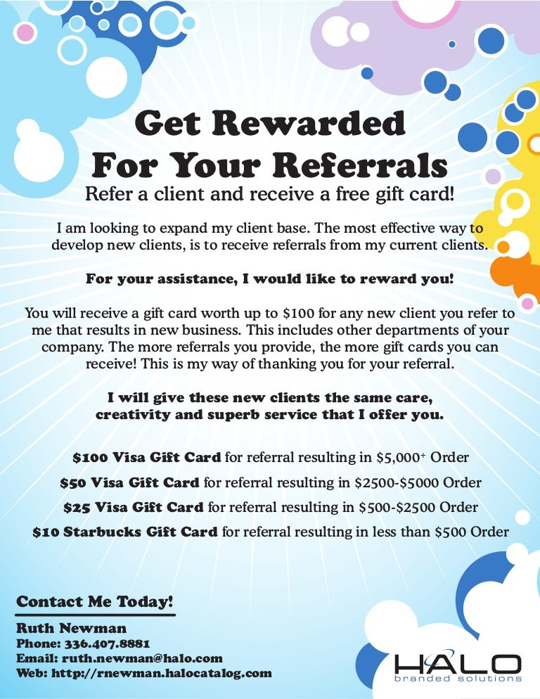 Referral Flyer - Gift Card