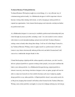 Technical and business writing