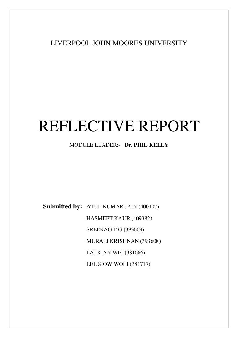 Individual reflective report exampl i wanna someone writes to me an essay