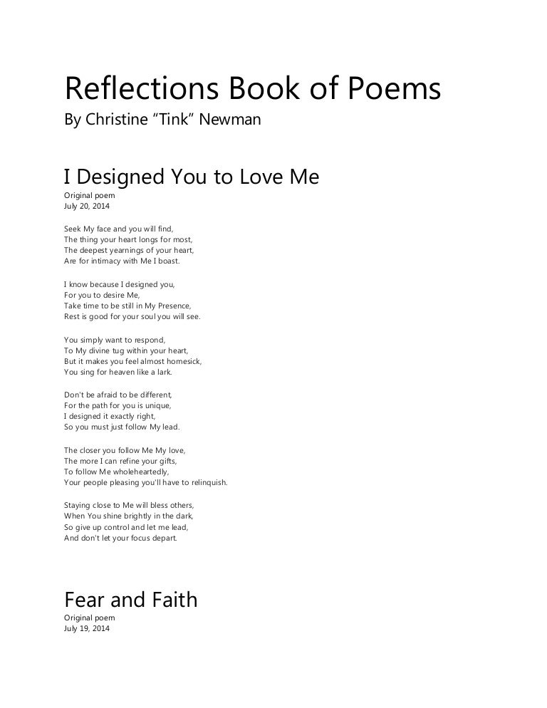 Translations Into Italian: Reflections Book Of Poems