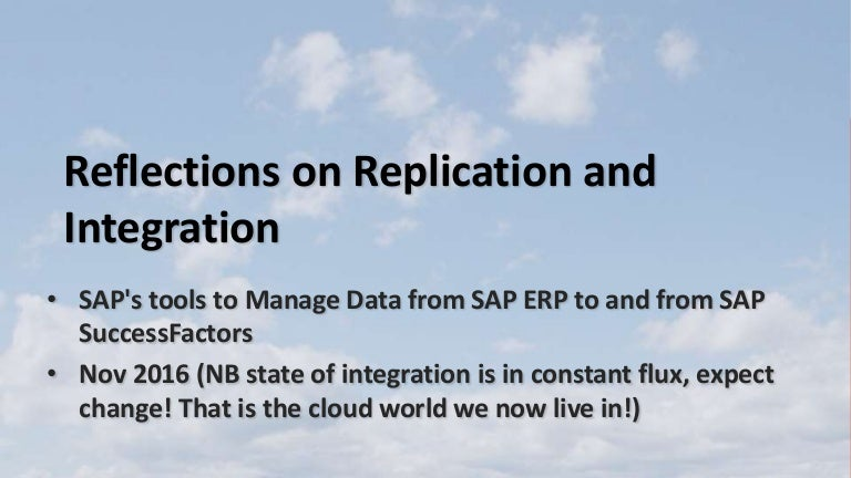 SAP SuccessFactors Cloud Integration to SAP ERP from