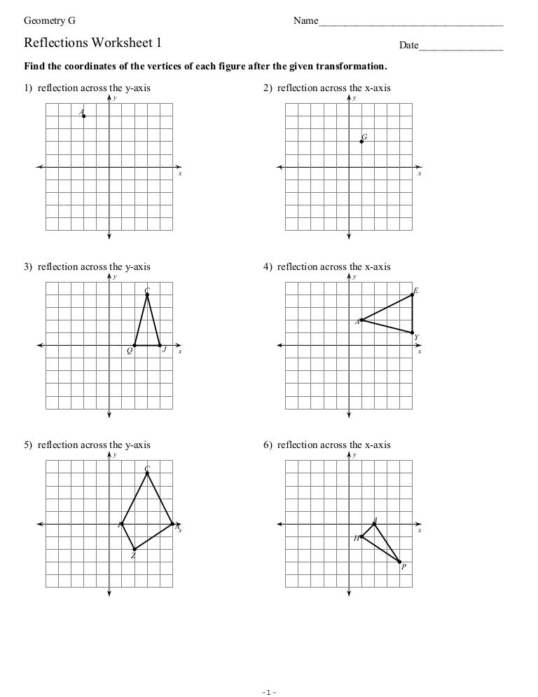 Geometry Reflection Worksheets Worksheets for all | Download and ...