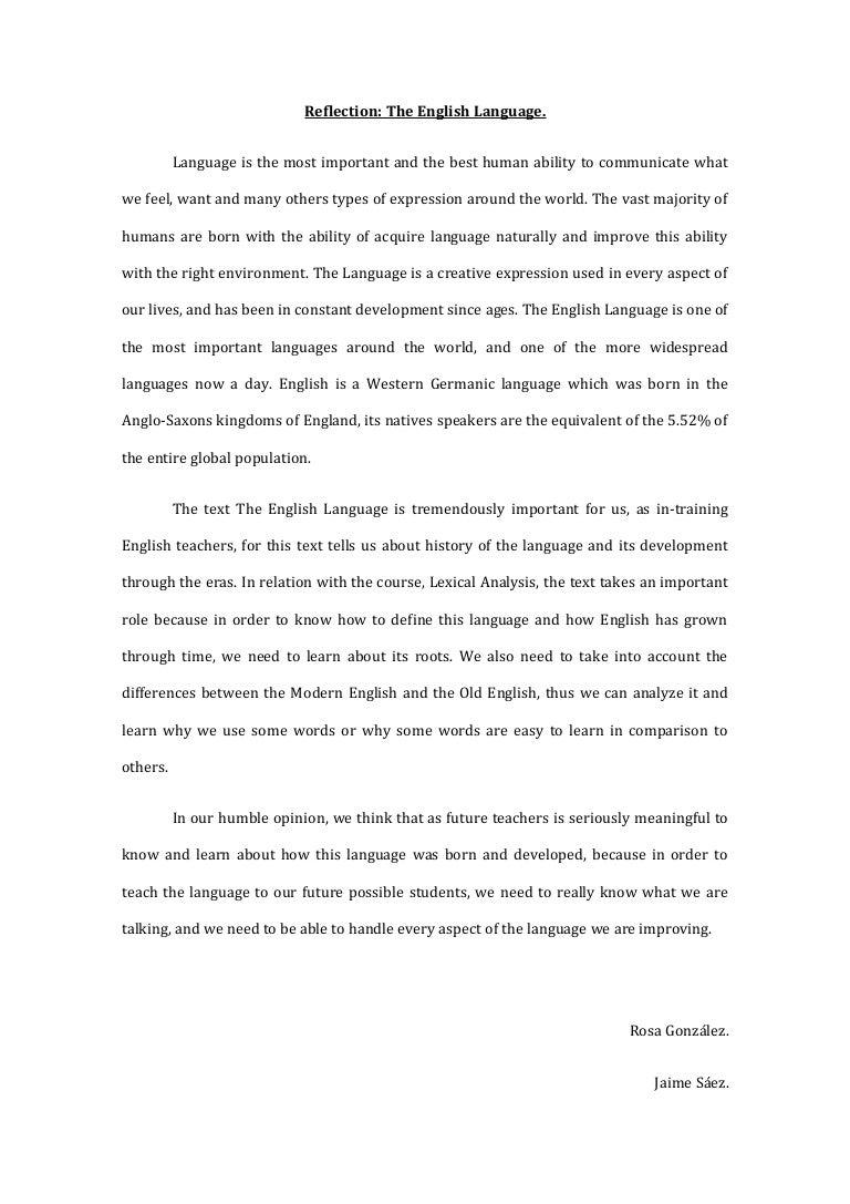 reflection the english language