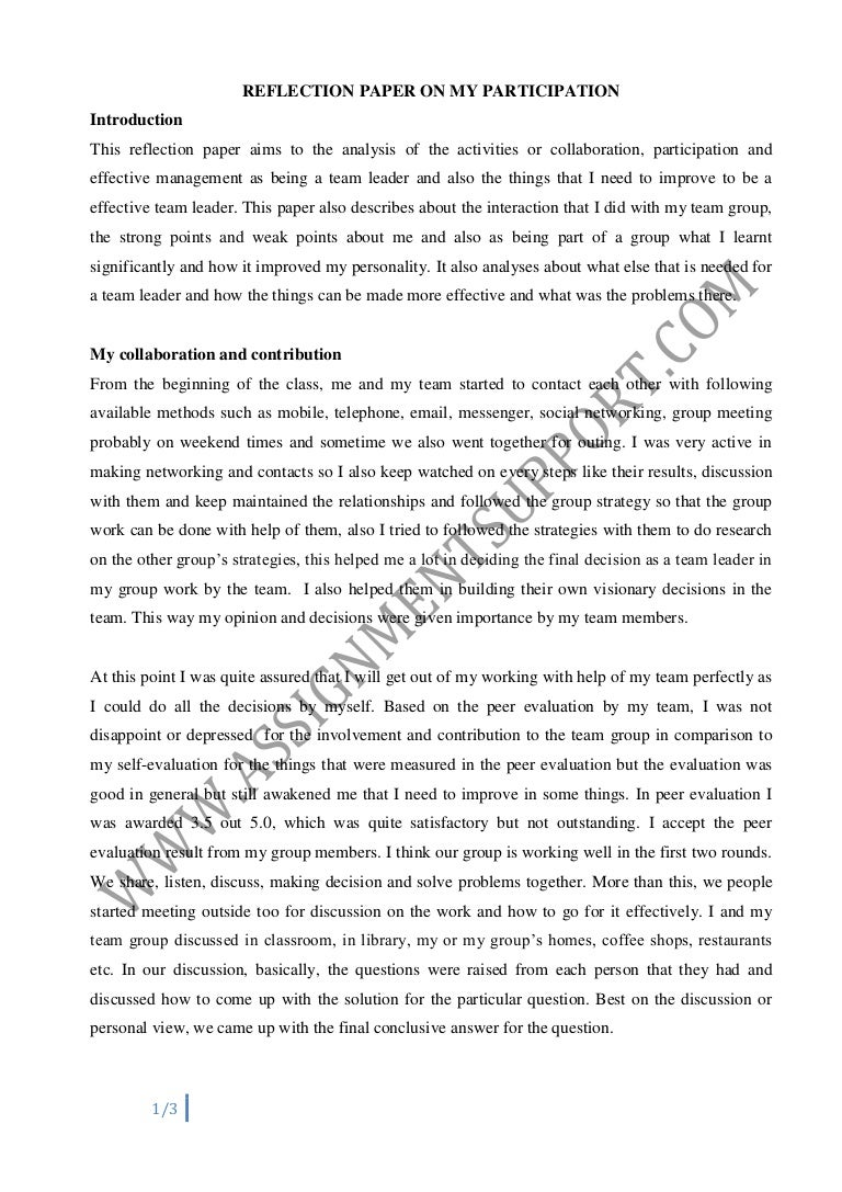 reflective essay essay sample from assignmentsupport com essay writin