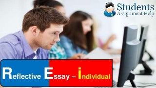 Help on reflective essay