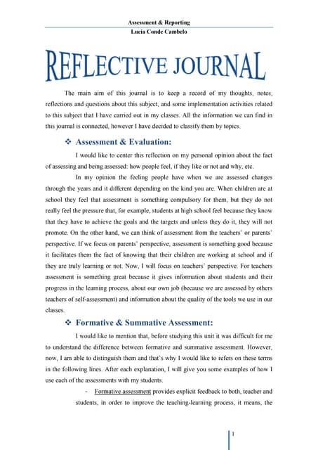 reflective journal pdf