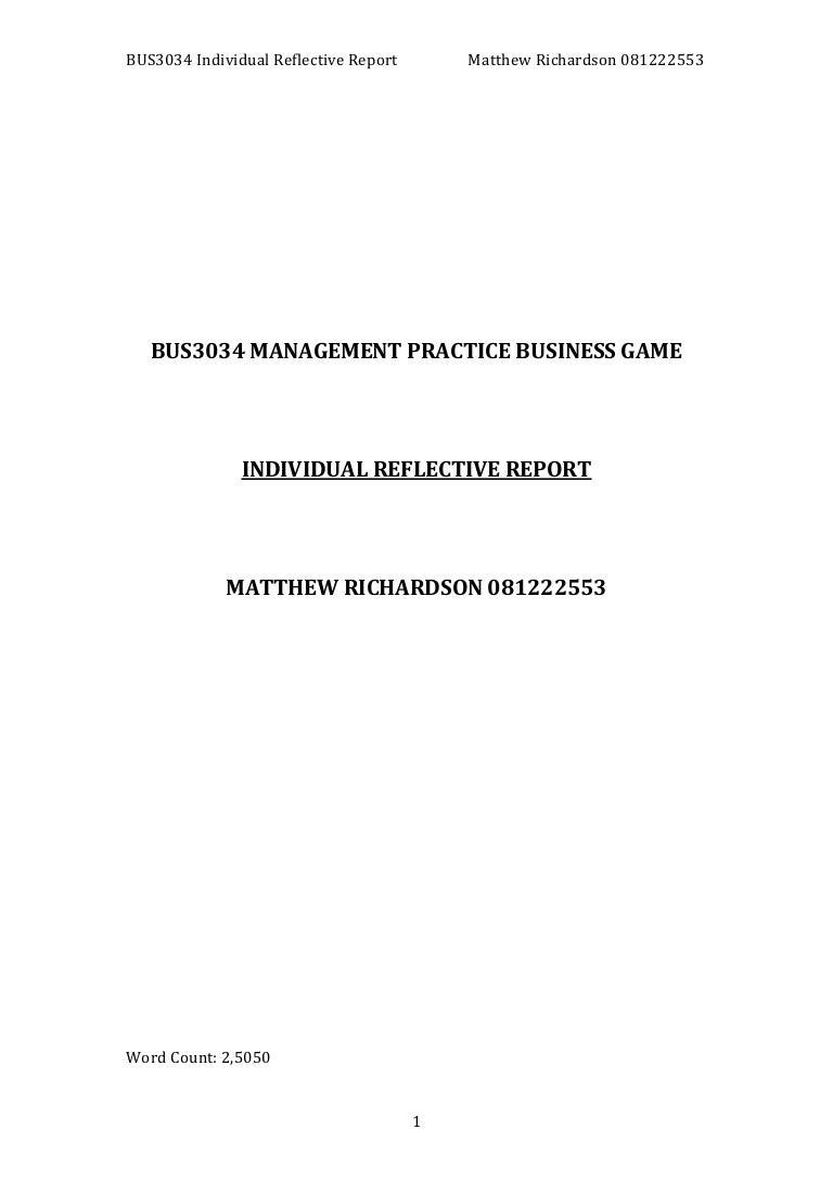 Reflective Report