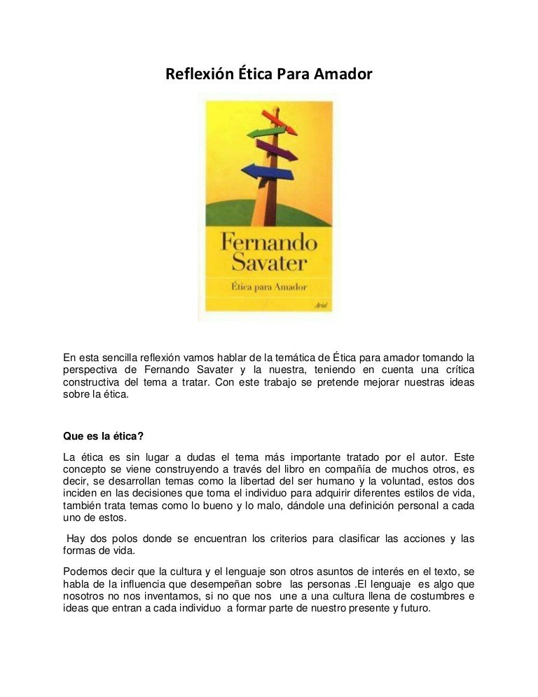 Etica Para Amador Pdf