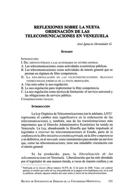 Reflexiones sobre la_nueva_ordenación_de_las_telecomunicaciones