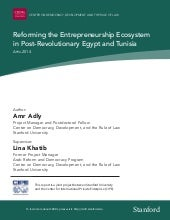 Reforming the entrepreneurship ecosystem in post revolutionary egypt and tunisia