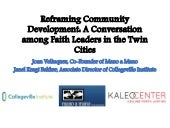 Reframing Community Development Workshop - May 20, 2015