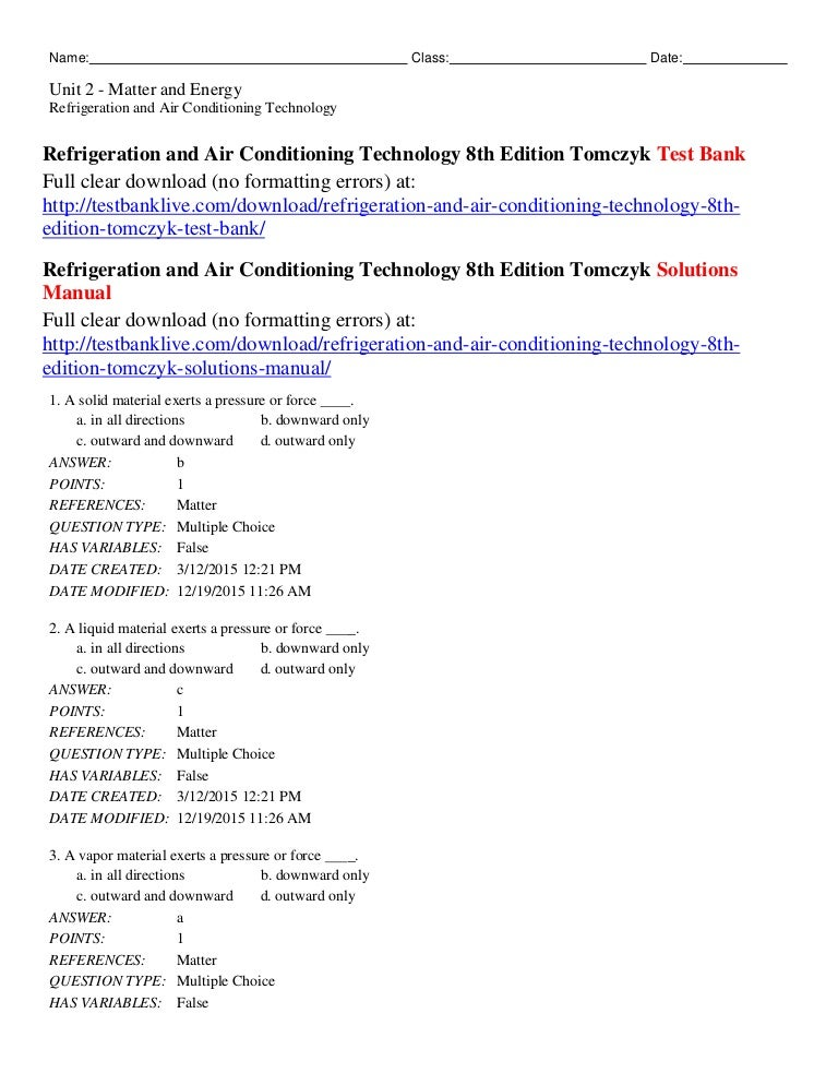 refrigeration and air conditioning technology 6th edition free download