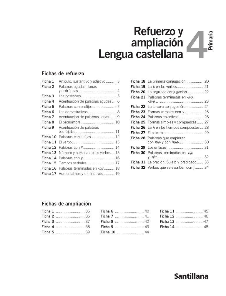 Refuerzo y ampliación lenguaje 4º