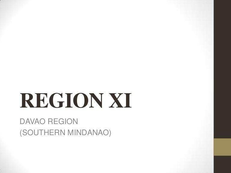 REGION XI: Davao Region