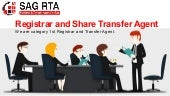 SAG RTA The Best Registrar and Share Transfer Agent