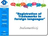 Registration of tm in foreign languages