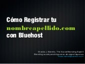 Registro Dominio Propio en Bluehost
