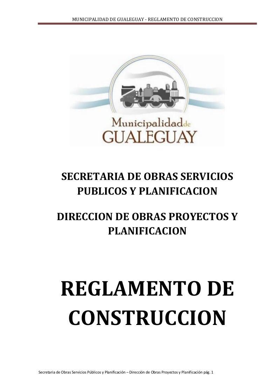 Reglamento construcciones dec. 203 16