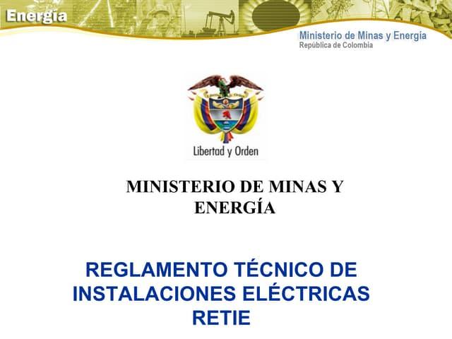 Reglamento tecnico retie presentacion