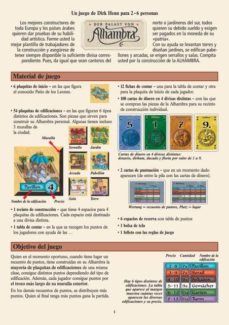 Reglas alhambra