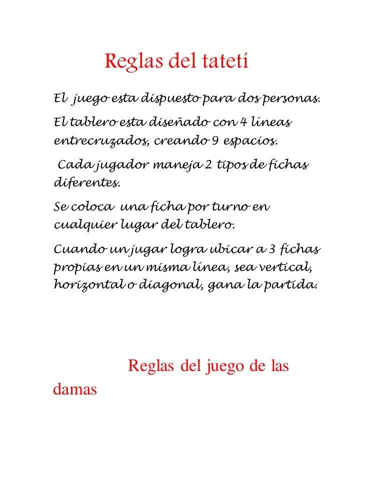 Reglas Del Tateti