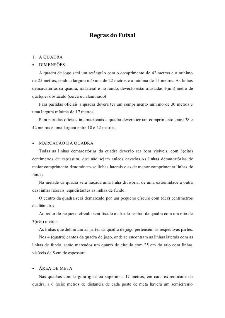 db949d78b70bd Regras básicas do futsal