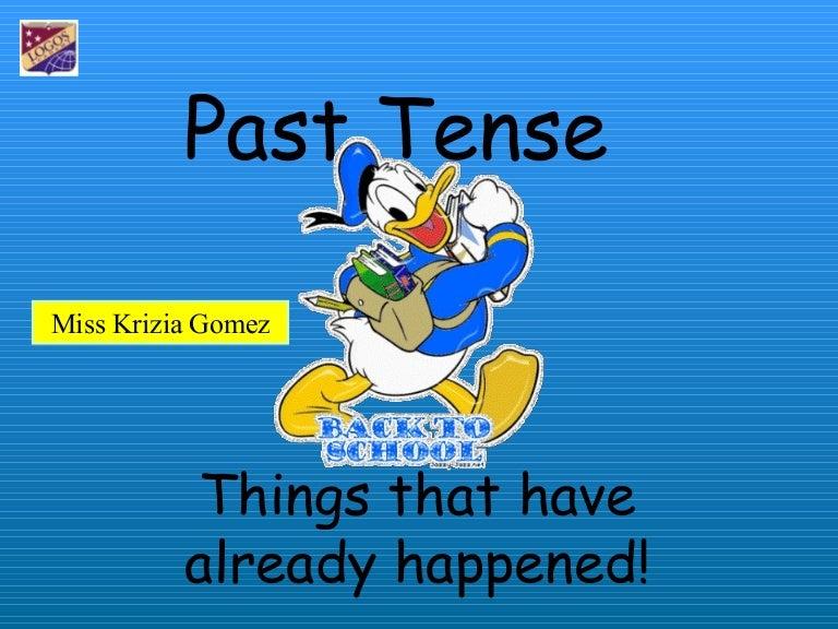 regular past tense for kids