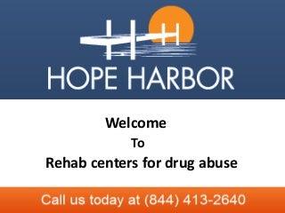 Rehab centers for drug abuse