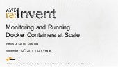 Running & Monitoring Docker at Scale