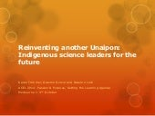 Reinventing another Unaipon: Indigenous science leaders for the future