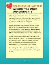 How to Negotiate Major Disagreements in Relationships