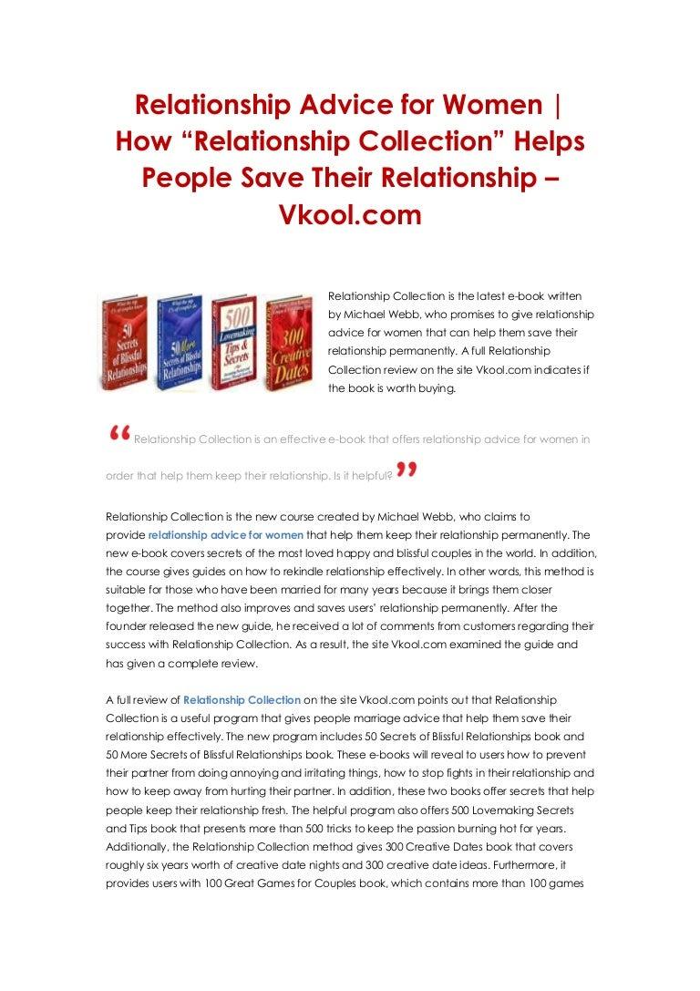 Online relationship help
