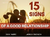 15 Signs of a Good Relationship