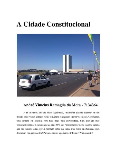 A Cidade Constitucional: Relatório de André Vinícius R. de Mota