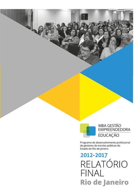 Relatório MBA Gestão Empreendedora – Educação