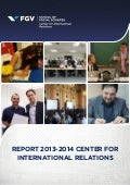 Center for International Relations Report - 2013 - 2014