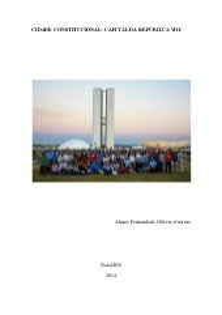 Cidade Constitucional: Relatório de Fernanda de Oliveira Justino