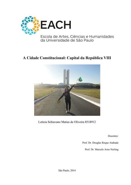 Cidade Constitucional: Relatório de Leticia Schiavano