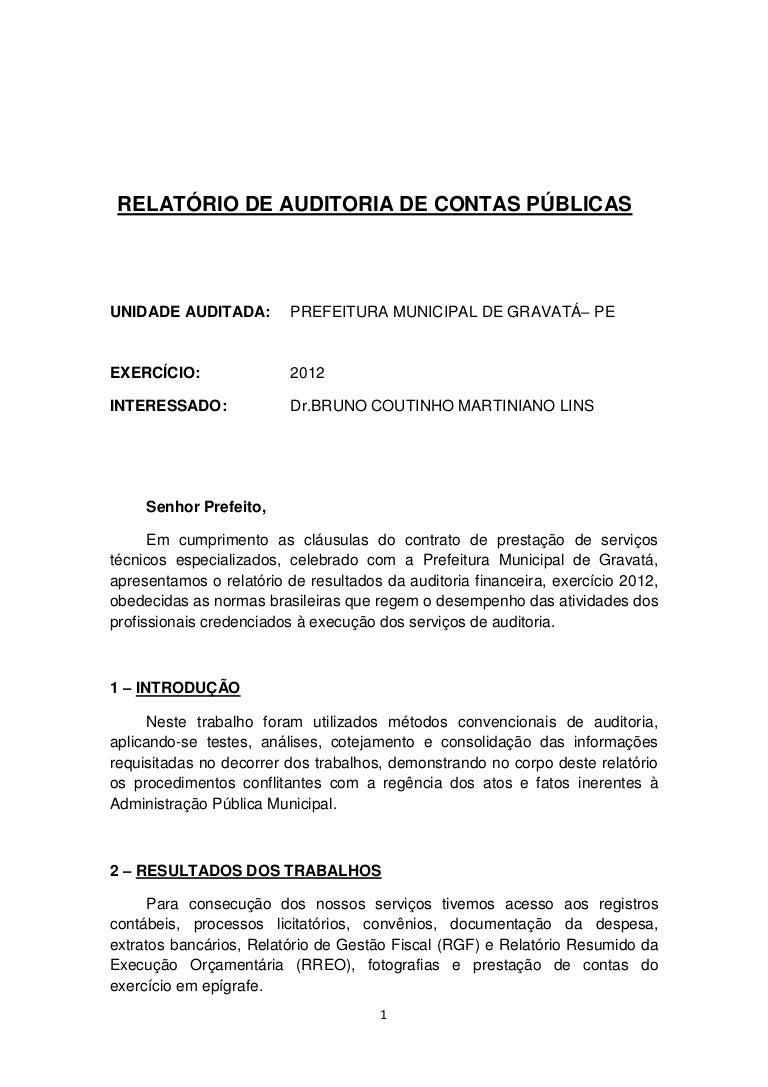 relatório financeiro e administrativo de gravatá 201253232 Modelo De Relatorio Financeiro #18