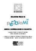 Relazione finale pedalaMi
