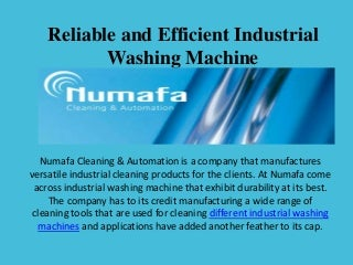 Reliable and Efficient Industrial Washing Machine