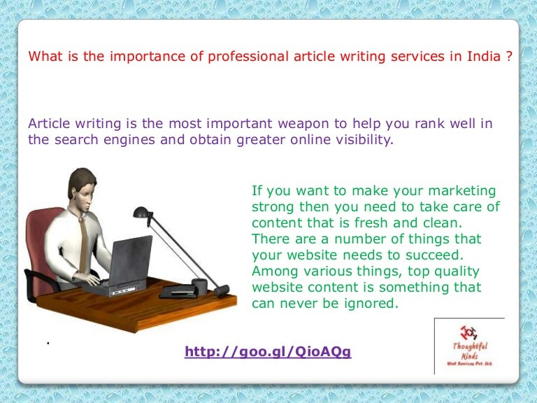 Reliable Article Writing Services In India