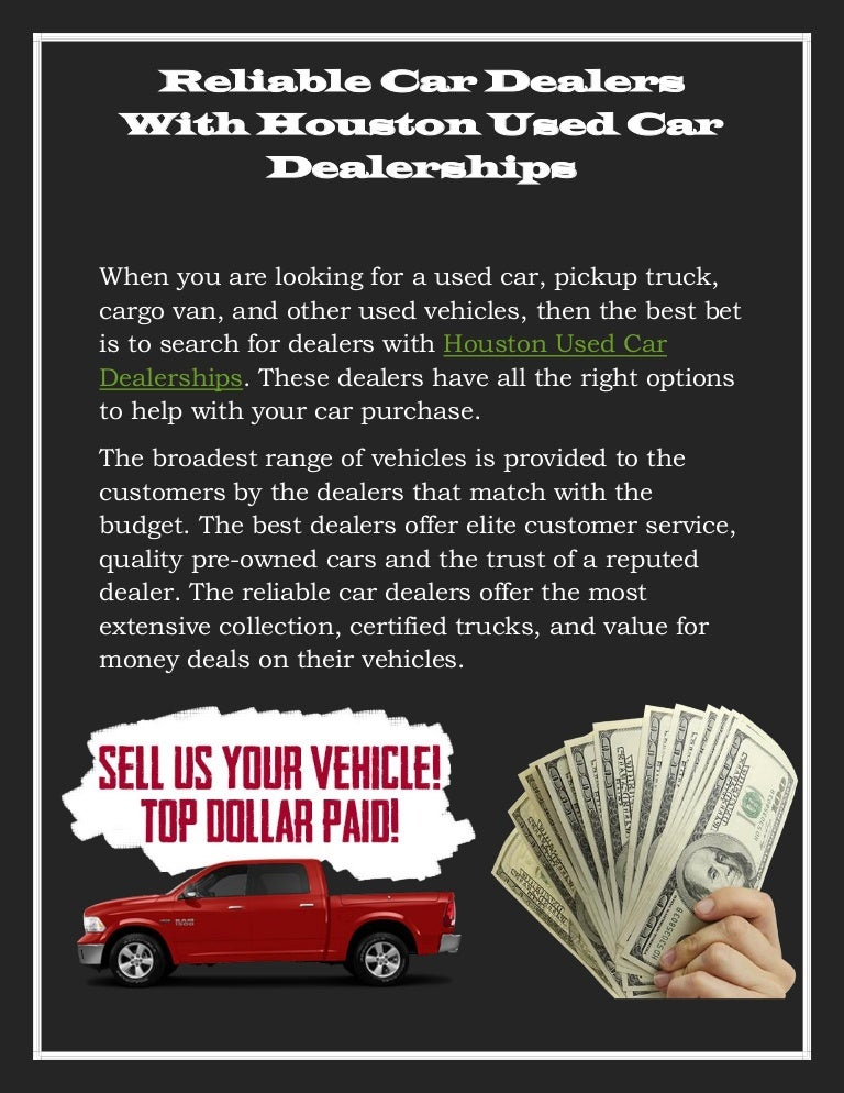 Reliable Car Dealers With Houston Used Car Dealerships