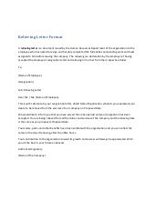 Relieving letter format altavistaventures Choice Image